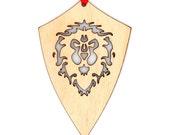 Wooden WoW Alliance Ornament