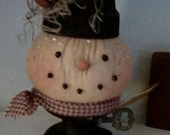 Primitive Snowman Make-do
