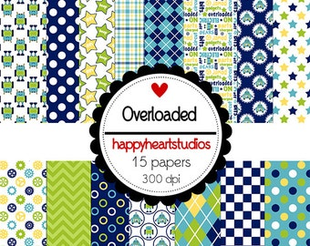 DigitalScrapbook Overloaded -INSTANT DOWNLOAD