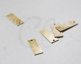 4pcs Antique Brass Rectangle Charm - 7x18.5mm (1840C-P-412)