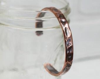"""Dimpled Cuff, 1/4"""" recycled copper cuff, cuff, copper jewelry, recycled, copper, hammered copper bracelet, stacylynnc, handmade"""