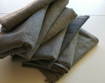 VINTAGE Lot of Grey Wool Suiting Fabric.