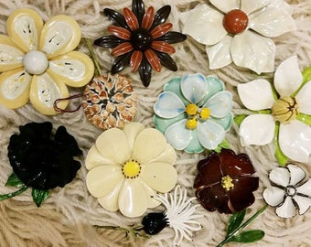 Flower brooch collection
