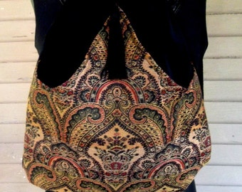 Classy Tapestry Backpack Renaissance Backpack boho backpack boho slingbag black velvet bag backpacks boho cinch bag tapestry
