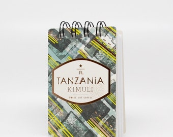 STARBUCKS Notebook made with Starbucks Tasting Cards
