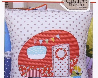 Clearance PATTERN POPPIE'S Glamping Travel TRAILER Applique Pillow pattern from Australia