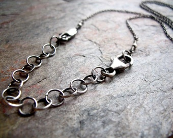 Sterling Silver Extender Chain - Handmade Sterling Silver Chain and Clasp to Extend Necklace Length