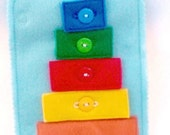SALE Shapes, colors and button or snap Quiet book page -educational game busy bags  quiet books activity book