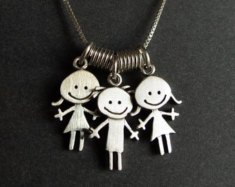 Triple family necklace - choose your combination
