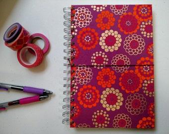 Magenta Floral Hard Cover Lined Journal