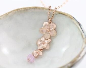 Sakura bloom lily Orchids Flower rose flora rose gemstone gem sterling silver gold filled vermeil perfect gift mom sister bride bridesmaid
