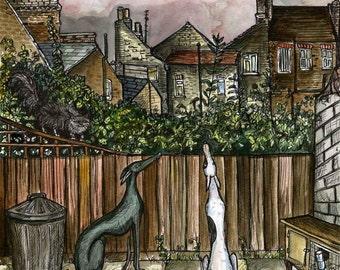 Greyhound DOG Art Print
