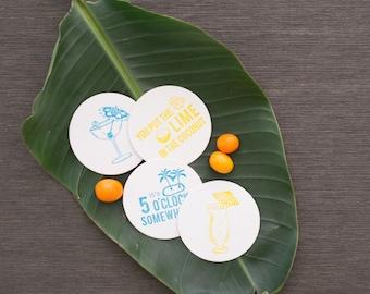 Letterpress Boxed Happy Hour Coaster Set