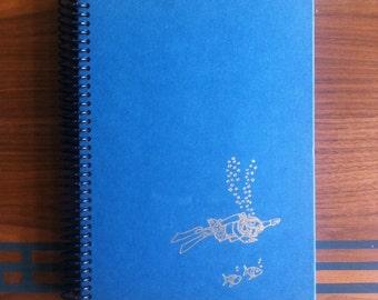 Evil Under the Sea , Blank Book Journal or Sketchbook