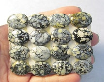 OUT Of Town SALE Rare Natural White Buffalo Turquoise Cabochon,  From Dry Creek Mine Nevada , QTY1 , 15mm x 20mm Oval