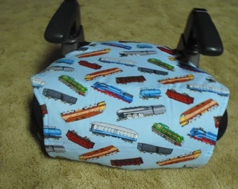 Train print toddler booster seat cover-booster seat not included