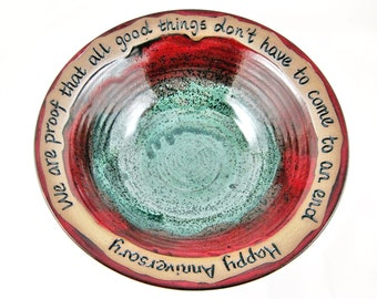 Pottery anniversary gift, 9th anniversary gift, Commitment Ceremony - IN stock WB113 I