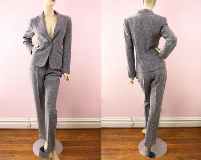1990s LuLu Alexander Black & White Pantsuit M