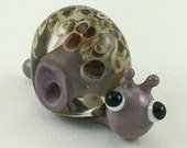 Little Purple Snail Lampworked Glass Figurine Bead