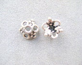 BEAD, CAP, Bali, Sterling, Silver, Spacer, Flower,
