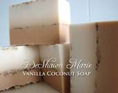 SOAP- Vanilla Coconut Soap - Vegan Soap - Handmade Soap - Tropical Soap- Soap Gift - Soap Favors