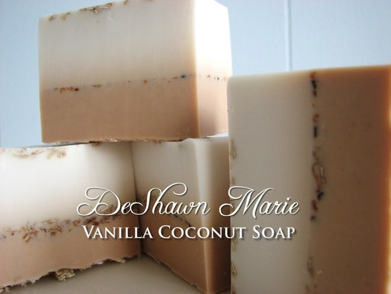 SALE SOAP- Vanilla Coconut Soap - Vegan Soap - Tropical Soap- Soap Gift - Soap Favors - Wedding Favors - Mother's Day Gift - Christmas Gift