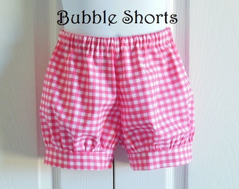 Bubble Shorts for toddler girls - Choose your own fabric - 12 months to size 6