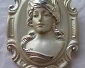 Woman Girl Gold Brooch Vintage Pin