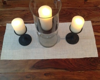 "Burlap table runner - accent table runner - tablescape - dining table runner - 15.5""x36"" table runner - bleached table runner"