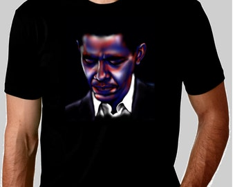 President Obama USA cotton black tshirt