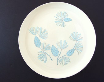 6 Vintage BLUE SPRUCE Dinner Plates by Marcrest Stetson
