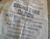 Ballot bag 1964