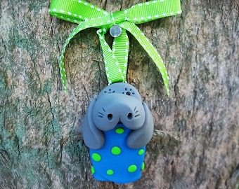 Baby Boy Manatee Ornament