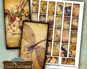Vintage Eclectic, Domino Collage Sheet, 1x2 Collage Sheet, Vintage Images, Rustic Printables, Domino Jewelry, Jewelry Images