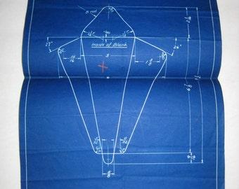 Vintage (1934) Blueprint for Industrial Die for Envelopes