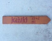 Kahiki Directional Arrow Mileage Sign Tiki Bar Columbus OH Polynesian Restaurant