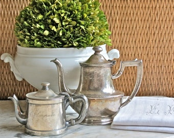 Lovely Vintage Hotle Silver.......Pair Of Tea Pots