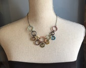 Circles necklace in muted colors