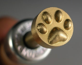 Leonardo Deep Pawprint Brass Stamp Lampwork tool