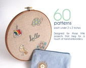 Embroidery Patterns, QUICK STITCH Hand Embroidery Patterns, 60 mini patterns for your next DIY project, embroidery design collection