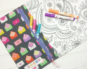 NEW - Color me wallet with washable markers - Color, wash, repeat  - Love notes