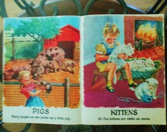 1947 Vintage Giddap Donkey Childrens animal book lajos Segner vintage Books