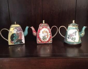Vintage Collectibles Miniature Teapots