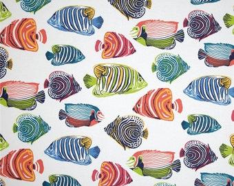 Fish Shower Curtain, Multi-Colored Shower Curtain, Bright Bathroom Decor, Kids' Shower Curtain, Beach Theme Shower Curtain