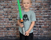 Boys Gray short sleeve tee shirt Darth Vader embroidery design Boys Tee Shirt embroidery line from Figtreebroutique