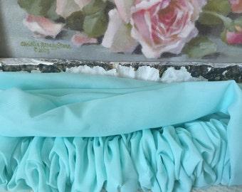 Aqua Blue Chiffon Chandelier/Cord Cover -  Chandelier Decor - Curtain Rod Decor
