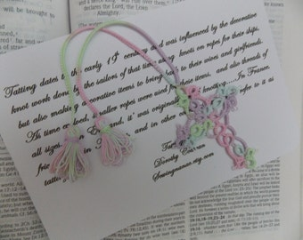 Tatting  Shuttle Tatted Bookmark