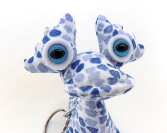 Cute Keychain, Alien Keychain, Adopt an Alien Keychain, Monster Keychain by Adopt an Alien named Roscoe