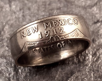 New Mexico Coin Ring YOUR SIZE 5 to 10.5 State Quarter MR0705-TSTNM