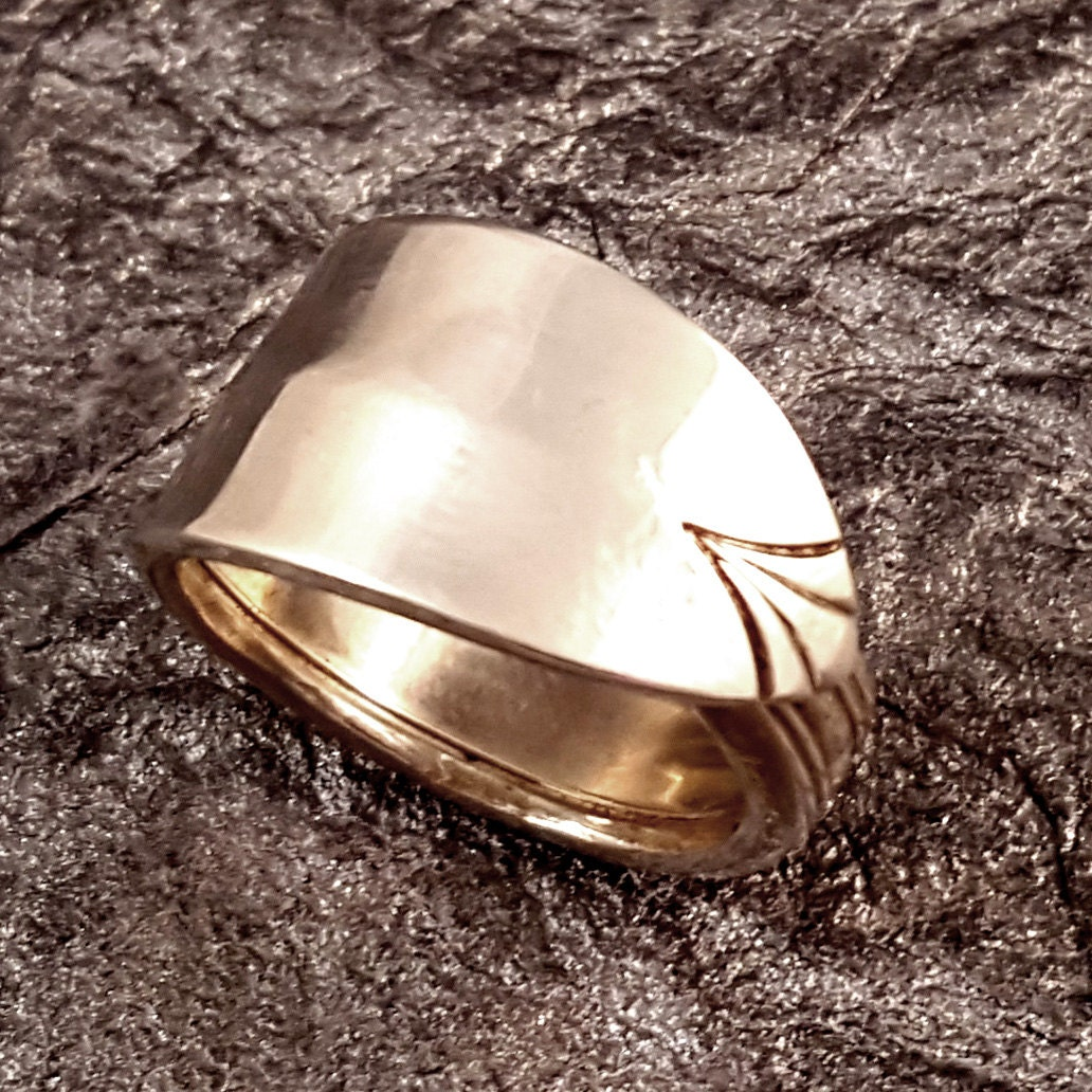 spoon ring sterling silver deco size 8 to 9 kr0302 tbm192